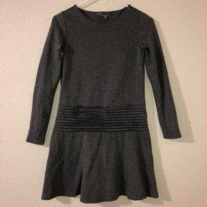 VINCE Gray Pleated Waist Dress L